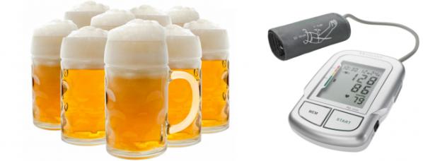 Пиво повышает или понижает давление