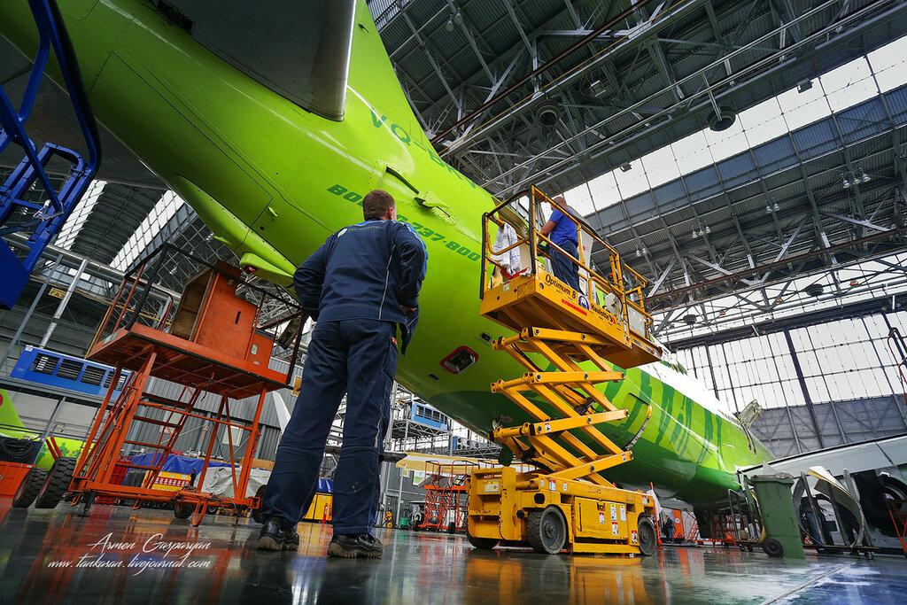 Главные особенности использования техники обслуживания ремонта самолётов.